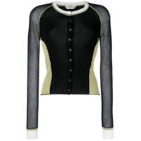 Fendi Cardigan Color Block - Preto