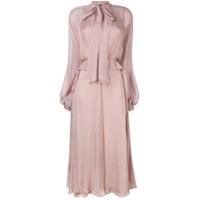 Irina Schrotter Vestido Longo Com Amarração - Rosa