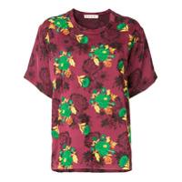 Marni Camiseta Com Bordado - Vermelho