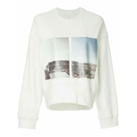 Song For The Mute Blusa De Moletom Cropped - Branco