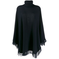 Incentive! Cashmere Knitted Poncho - Azul