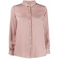 Altea Camisa Com Estampa Geométrica - Rosa
