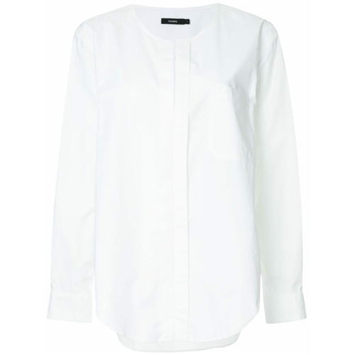 Imagem de Bassike Camisa sem colarinho - Branco