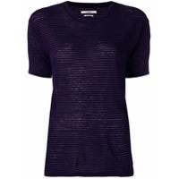 Isabel Marant Étoile Camiseta Slim Listrada - Roxo
