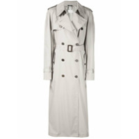 Maison Margiela Trench Coat Acinturado - Neutro