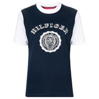 Hilfiger Collection Contrast Sleeve Logo T-Shirt - Azul