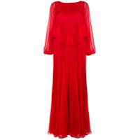 Irina Schrotter Vestido Longo - Vermelho