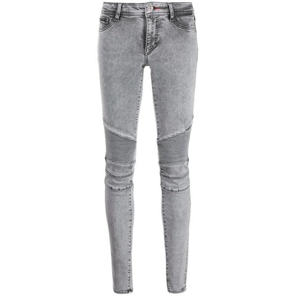 Philipp Plein Calça jeans skinny com lavagem - Preto