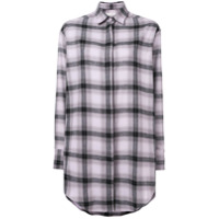 Each X Other Oversized Soft Washed Flannel Shirt - Rosa