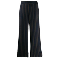 Incotex Striped Cropped Trousers - Azul