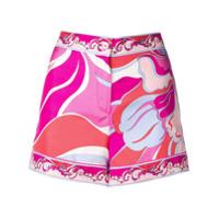 Emilio Pucci Rivera Printed Shorts - Rosa