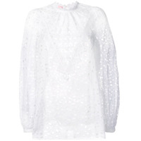 Giamba Camisa Com Bordado Inglês - Branco