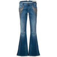 Diesel Calça Jeans Flare - Azul