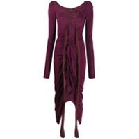 Andreas Kronthaler For Vivienne Westwood Vestido Com Detalhe De Amarração - Roxo
