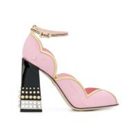 Dolce & Gabbana Sapato 'd'orsay' Com Aplicações - Rosa