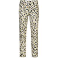 7 For All Mankind Calça Jeans Com Estampa Floral - Branco