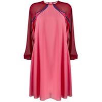 Giamba Vestido Mangas Longas - Rosa
