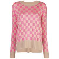 Adam Lippes Checked Sweater - Marrom