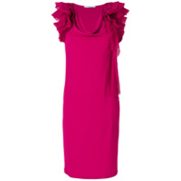 Givenchy Vestido Com Babado - Rosa