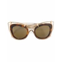 Pomellato Eyewear Óculos De Sol Gatinho - Neutro