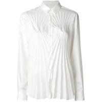 Maison Margiela Camisa Com Pregas - Branco