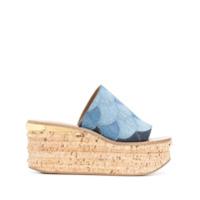 Chloé Sandália Jeans 'camille' - Azul