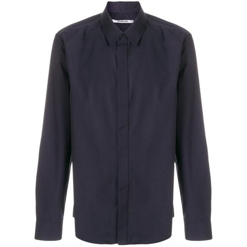 Chalayan Camisa com fechamento oculto - Azul