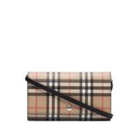 Burberry Vintage Check Hannah Clutch Bag - Neutro