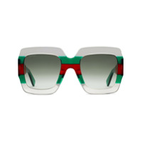 Gucci Eyewear Óculos De Sol Quadrado - Green