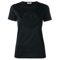 Moncler Camiseta Slim Com Logo - Preto