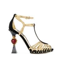 Dolce & Gabbana Sandália Bette Com Salto Esculpido - Preto