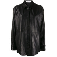 Iro Peters Leather Shirt - Preto