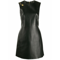 Versace Vestido De Couro Sem Mangas - Preto