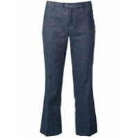 Max Mara Cropped Low Rise Jeans - Azul