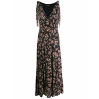 Andamane Vestido Midi Com Estampa Floral - Preto