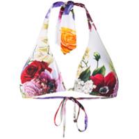 Dolce & Gabbana Biquíni Floral - Branco