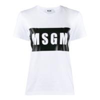 Msgm Camiseta Com Estampa De Logo - Branco
