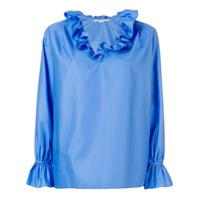 Stella Mccartney Camisa Com Babado Na Gola - Azul