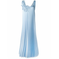 P.a.r.o.s.h. Vestido Plissado - Azul