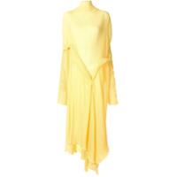 Litkovskaya Vestido Longo Evasê Com Mangas Longas - Amarelo