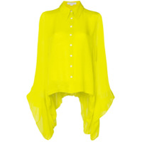 Carolina Herrera Draped Silk Shirt - Amarelo