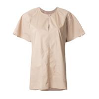 Lee Mathews Camiseta Com Decote Gota - Marrom
