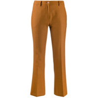 Pt01 Flared Cropped Trousers - Marrom