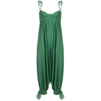 Three Graces Reed Cheesecloth Jumpsuit - Green