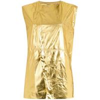 Osklen Colete 'metallic' - Amarelo