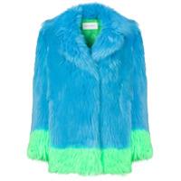 Alberta Ferretti Casaco Oversized Com Contraste - Azul