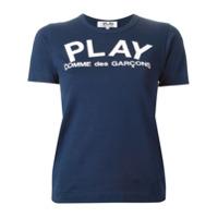 Comme Des Garçons Play Camiseta Com Estampa - Azul