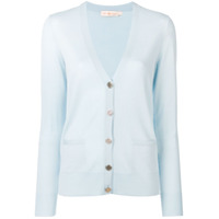 Tory Burch Buttoned Knitted Cardigan - Azul