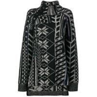 Yohji Yamamoto Suéter Com Aplicação - Preto