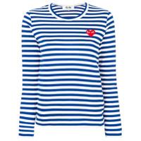 1f2de1dfe Comme Des Garçons Play Camiseta Listrada Mangas Longas - Azul ...